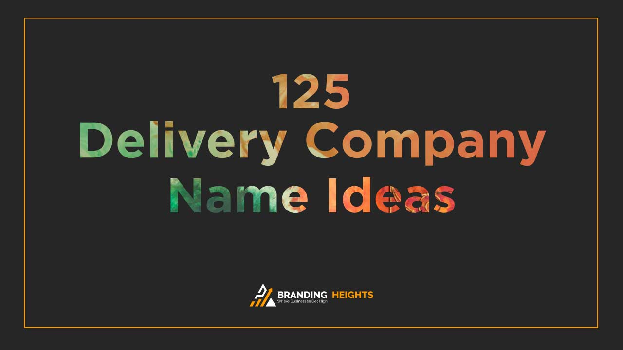 Delivery Company names